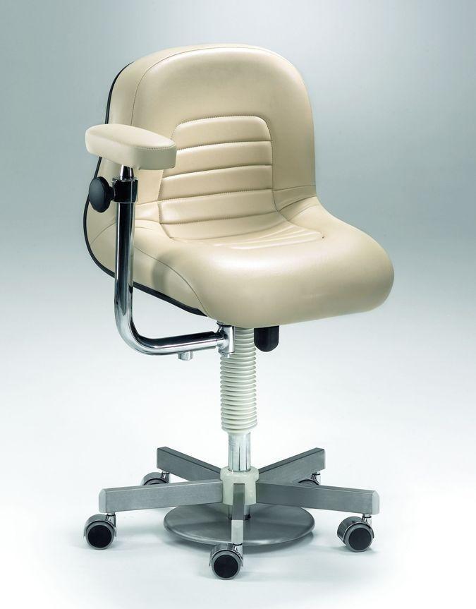 Dental stool / on casters / height-adjustable / with armrests Coburg Dentalift 22004 Jörg & Sohn