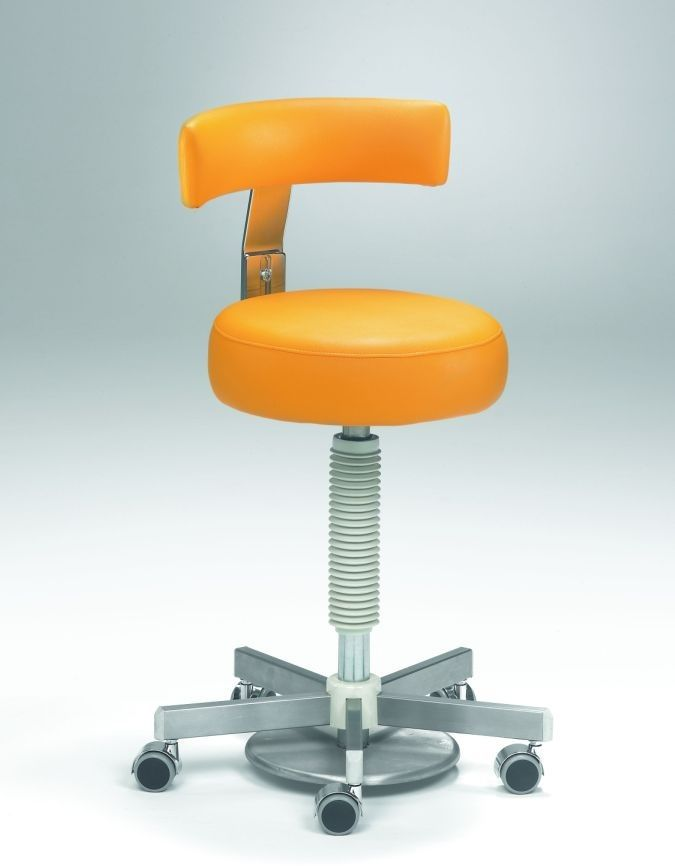 Dental stool / height-adjustable / on casters / with backrest Coburg Dentalift 22006 Jörg & Sohn