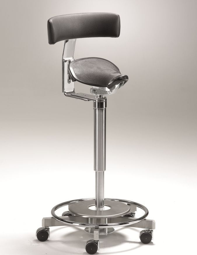 Medical stool / height-adjustable / on casters / saddle seat Coburg Medicalift 22011 Jörg & Sohn