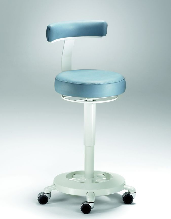 Dental stool / height-adjustable / on casters / with backrest Coburg Dentalift 1401 Jörg & Sohn