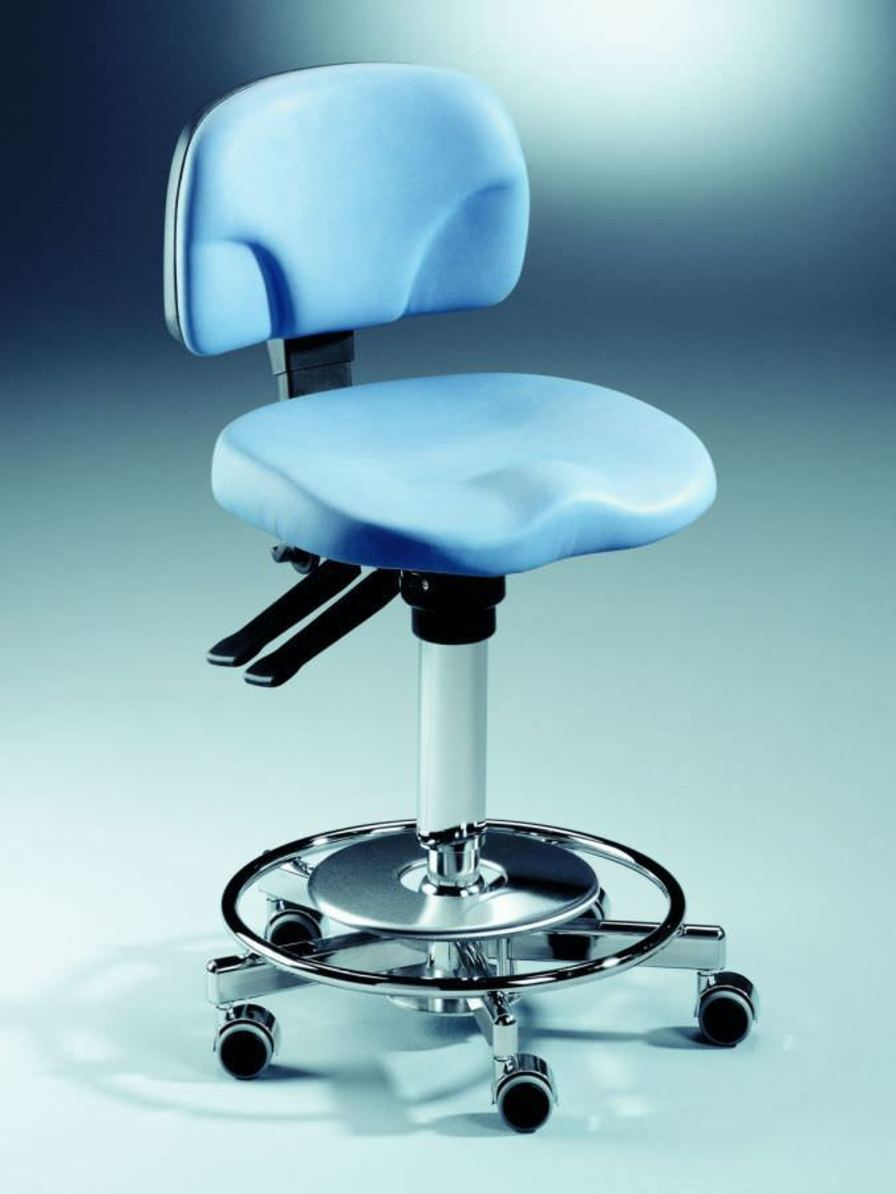 Dental stool / on casters / height-adjustable / with backrest Coburg Dentalift 2515 Jörg & Sohn