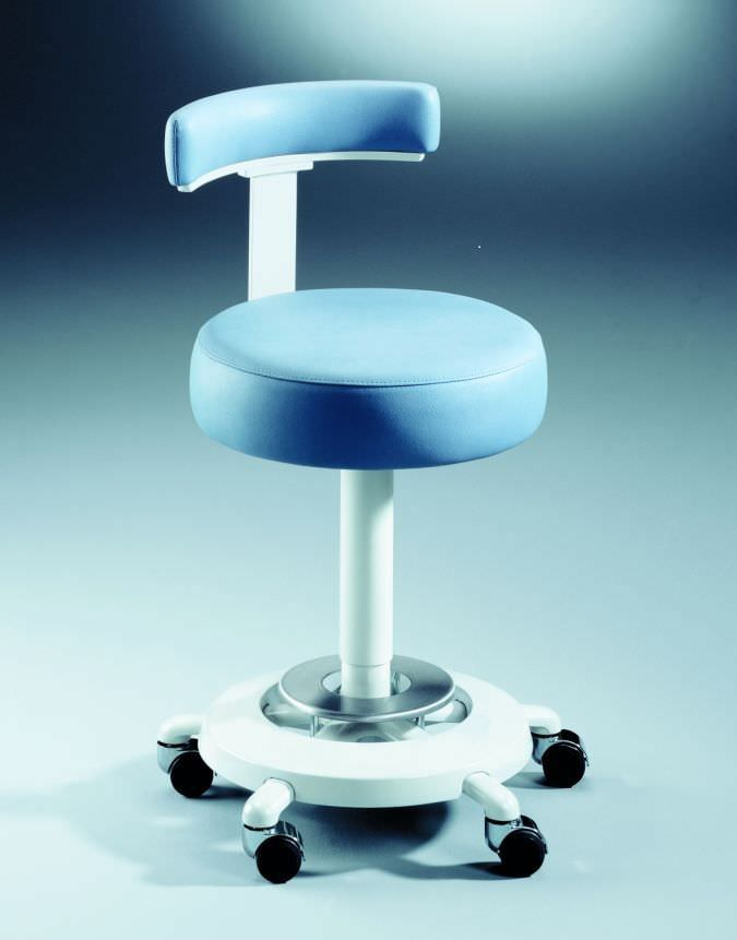 Dental stool / height-adjustable / on casters / with backrest Coburg Dentalift 2401 Jörg & Sohn