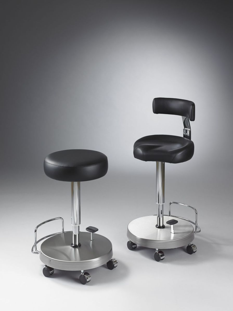 Surgery stool / medical / on casters / height-adjustable Jörg & Sohn