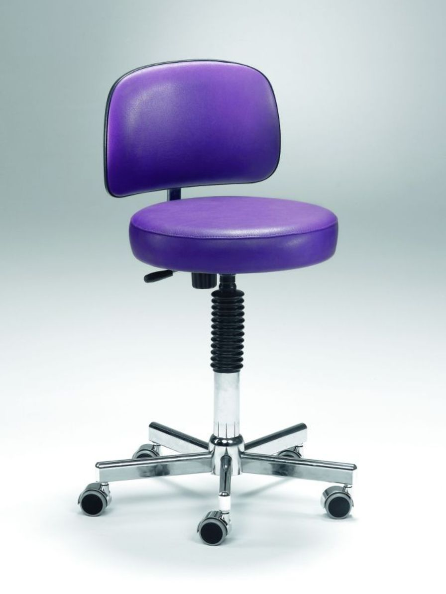 Medical stool / on casters / height-adjustable / with backrest Coburg Dentalift 33001 Jörg & Sohn