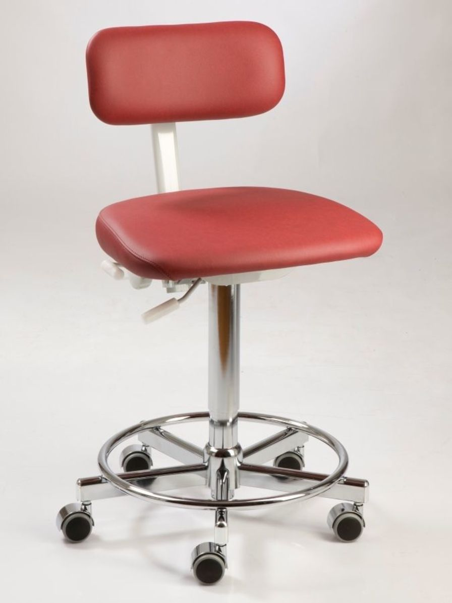 Dental stool / on casters / height-adjustable / with backrest Coburg Dentalift 12013 Jörg & Sohn