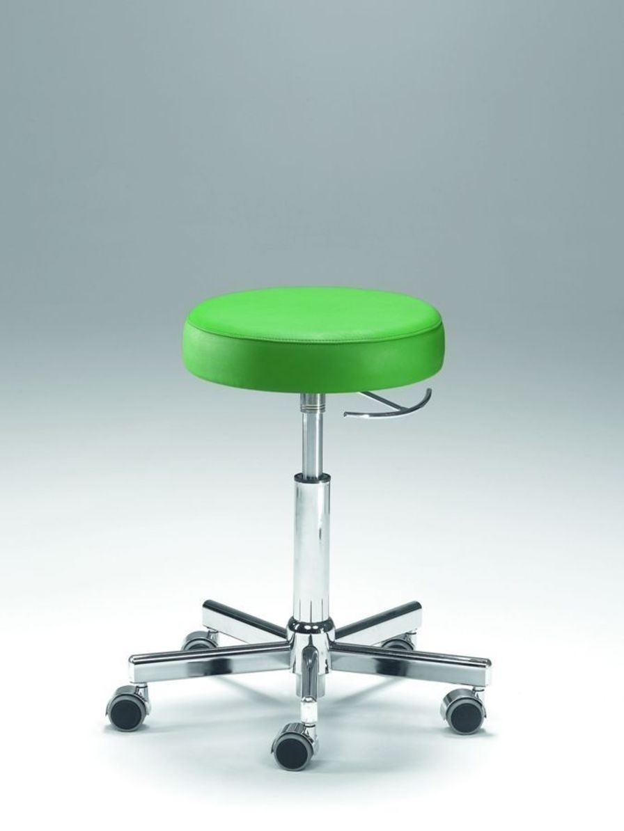 Medical stool / height-adjustable / on casters Coburg Dentalift 11070 Jörg & Sohn
