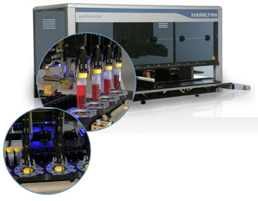 Automatic decapping and capping system / test tube / laboratory / bench-top STAR™ Hamilton Company
