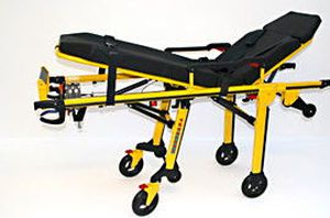 Emergency stretcher trolley / height-adjustable / mechanical / 2-section Fuego RIT243 Kartsana Medical