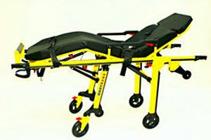 Emergency stretcher trolley / height-adjustable / pneumatic / 3-section Fuego RIT249 Kartsana Medical