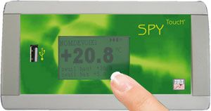 Temperature regulator data logger / with touchscreen SPY TOUCH' U JRI