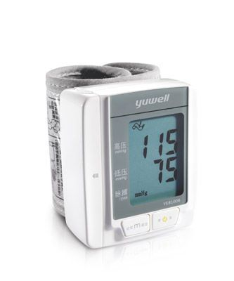 Automatic blood pressure monitor / electronic / wrist 60 - 230 mmHg | YE8100B Jiangsu Yuyue Medical Equipment & Supply Co., Ltd.
