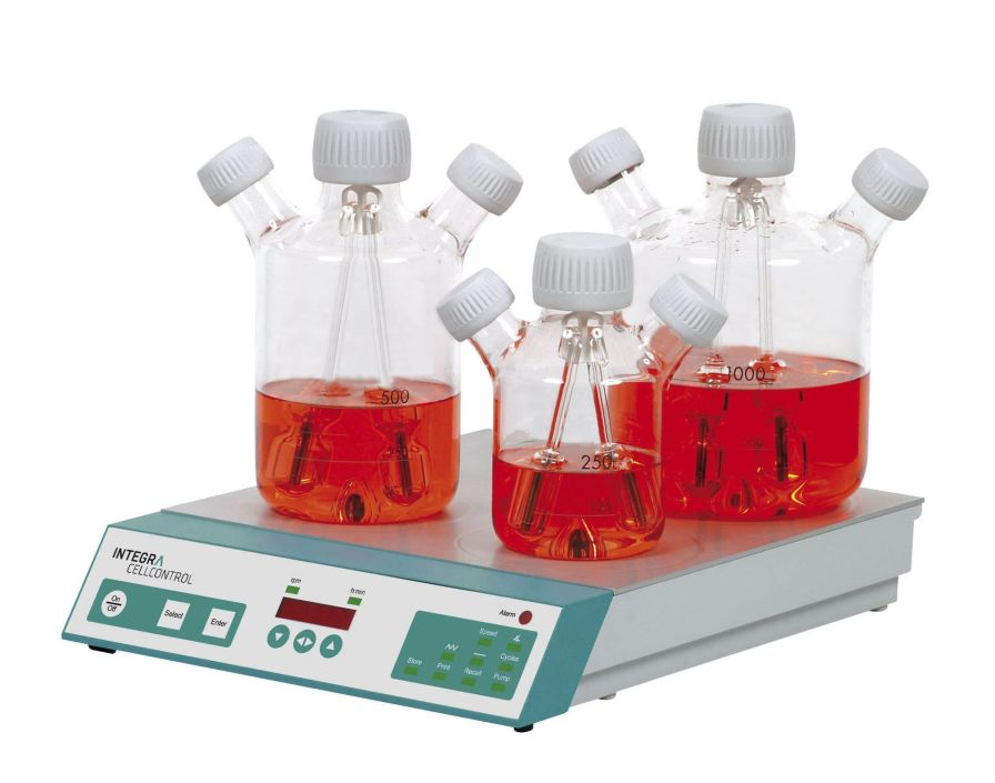 Laboratory cell culture laboratory bioreactor CELLSPIN Integra Biosciences AG