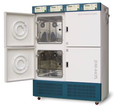 Multi-chamber laboratory incubator JSMI-04T JS Research Inc.