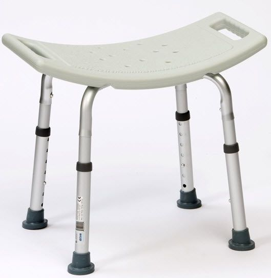 Height-adjustable shower stool max. 135 kg | 12003KDR Drive Medical Europe