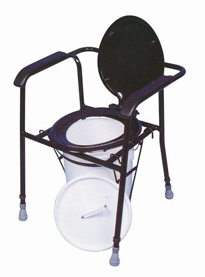 Shower chair / commode / height-adjustable max. 140 kg | Kegworth Chemical Drive Medical Europe