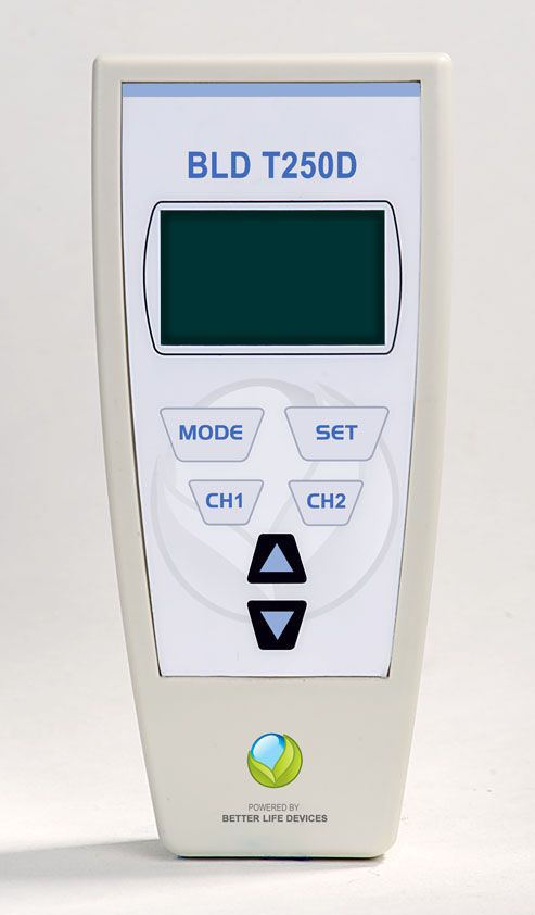 Electro-stimulator (physiotherapy) / hand-held / IF / 2-channel IFT T250D Johari Digital Healthcare Ltd.