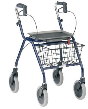 4-caster rollator / height-adjustable Dolomite Legacy Invacare