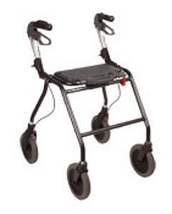 4-caster rollator / height-adjustable Dolomite Futura HP Invacare