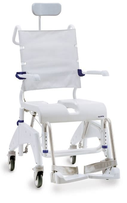 Commode chair / shower / on casters / height-adjustable Aquatec Ocean VIP Invacare