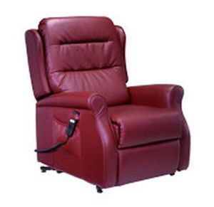 Lift medical chair / electrical Madison Plus microfiber Bordeaux Invacare