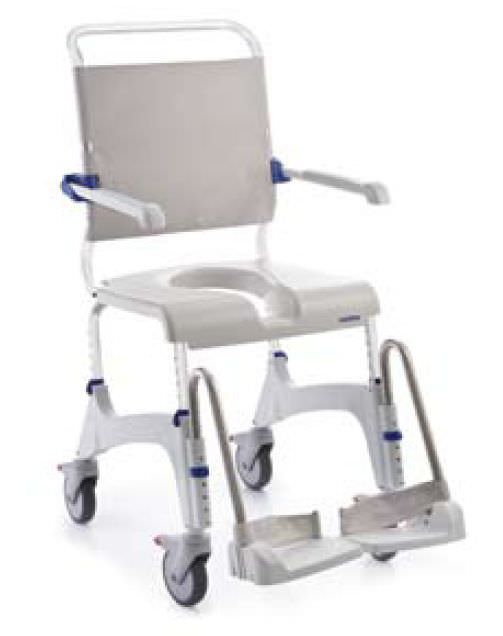 Shower chair / commode / on casters / height-adjustable Aquatec Ocean Invacare