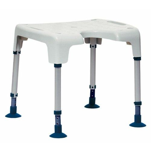 Bariatric shower stool / height-adjustable / with cutout seat Aquatec Pico Invacare