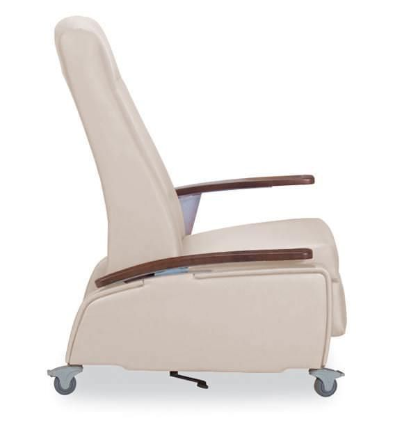 Reclining medical sleeper chair / on casters / manual Cardiac Care 615-44TA IoA Healthcare