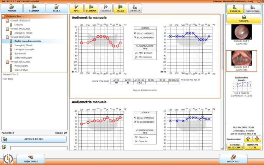 Audiometry software DAISY Inventis