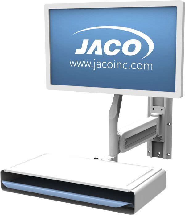 Medical monitor support arm / wall-mounted / with keyboard arm WA-40, WA-60 JACO, INC.