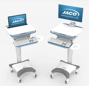 Battery-powered computer cart / height-adjustable / medical UltraLite 700 JACO, INC.
