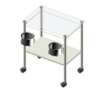 Instrument trolley / with basin bracket / 1-tray Doctor IMO