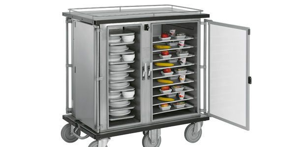 Distribution trolley / meal / with hinged door / closed-structure Transtronic evo ISECO FRANCE