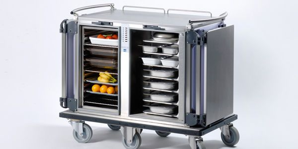 Distribution trolley / meal / refrigerated / warming Serelis ISECO FRANCE
