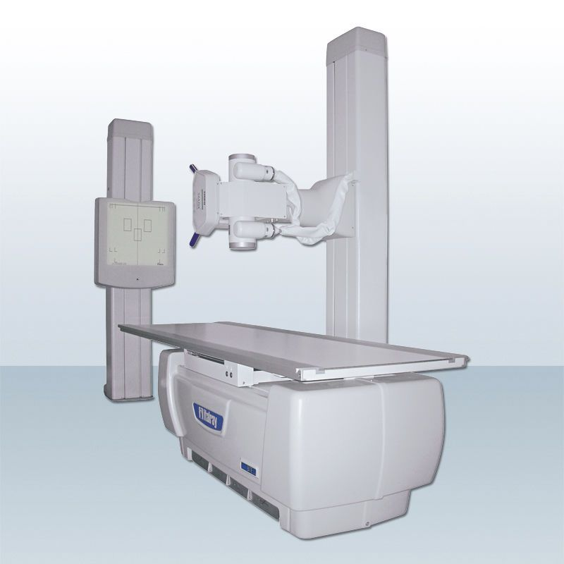 Radiography system (X-ray radiology) / analog / for multipurpose radiography / with vertical bucky stand STATIX ITALRAY