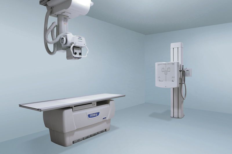 Radiography system (X-ray radiology) / digital / for multipurpose radiography / with vertical bucky stand X FRAME DR - 2T ITALRAY