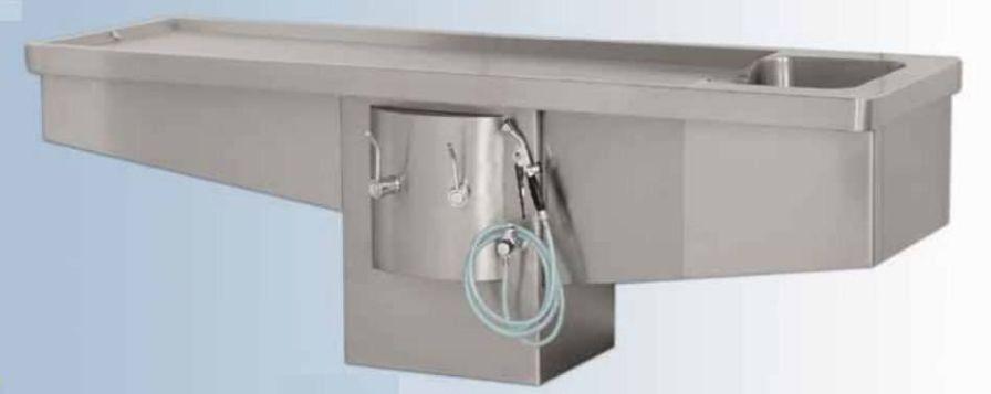 Autopsy table / with sink DELTA EVOLUTION II Hygeco International Produits