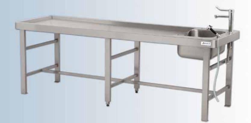 Autopsy table / with sink DELTA Hygeco International Produits