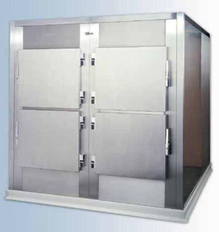 4-body refrigerated mortuary cabinet Hygeco International Produits