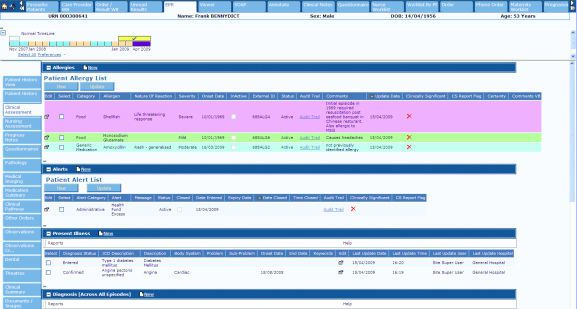 Data management and tracking system for / information / point of care / laboratory TrakCare® InterSystems