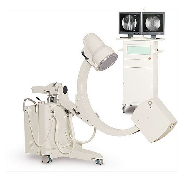 Mobile C-arm / with video column RADIUS S/R + DIM Intermedical