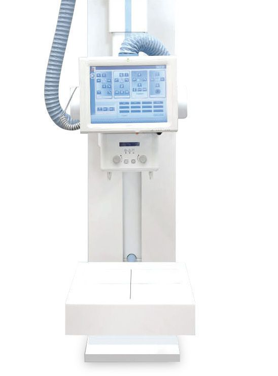 Radiography system (X-ray radiology) / digital / for multipurpose radiography / with ceiling-suspended telescopic tube-stand SUBMARINE DR Intermedical