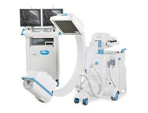 Mobile C-arm / with flat panel detector / with video column RADIUS XP with Flat Panel Intermedical