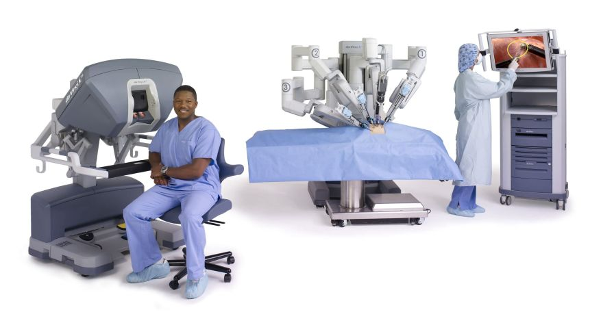 Minimally invasive robotic surgical system (robot and two consoles, high-definition 3D visualization) da Vinci® System Si™ Intuitive Surgical