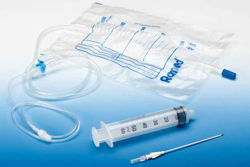 Pleural drainage set intra special catheters