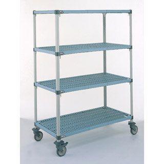 Mobile shelving unit / 3-shelf Bristol Maid Hospital Metalcraft