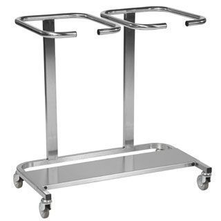 Dirty linen trolley / stainless steel / 2-bag WT/6/2/SS, WT/6/2/PL/SS Bristol Maid Hospital Metalcraft