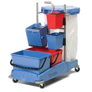 Cleaning trolley / with waste bag holder / with bucket 5758389/5627747 Bristol Maid Hospital Metalcraft