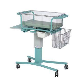 Height-adjustable hospital baby bassinet / transparent BA030 Bristol Maid Hospital Metalcraft