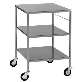 Dressing trolley / stainless steel / 3-tray DTSF/66/3/SD Bristol Maid Hospital Metalcraft