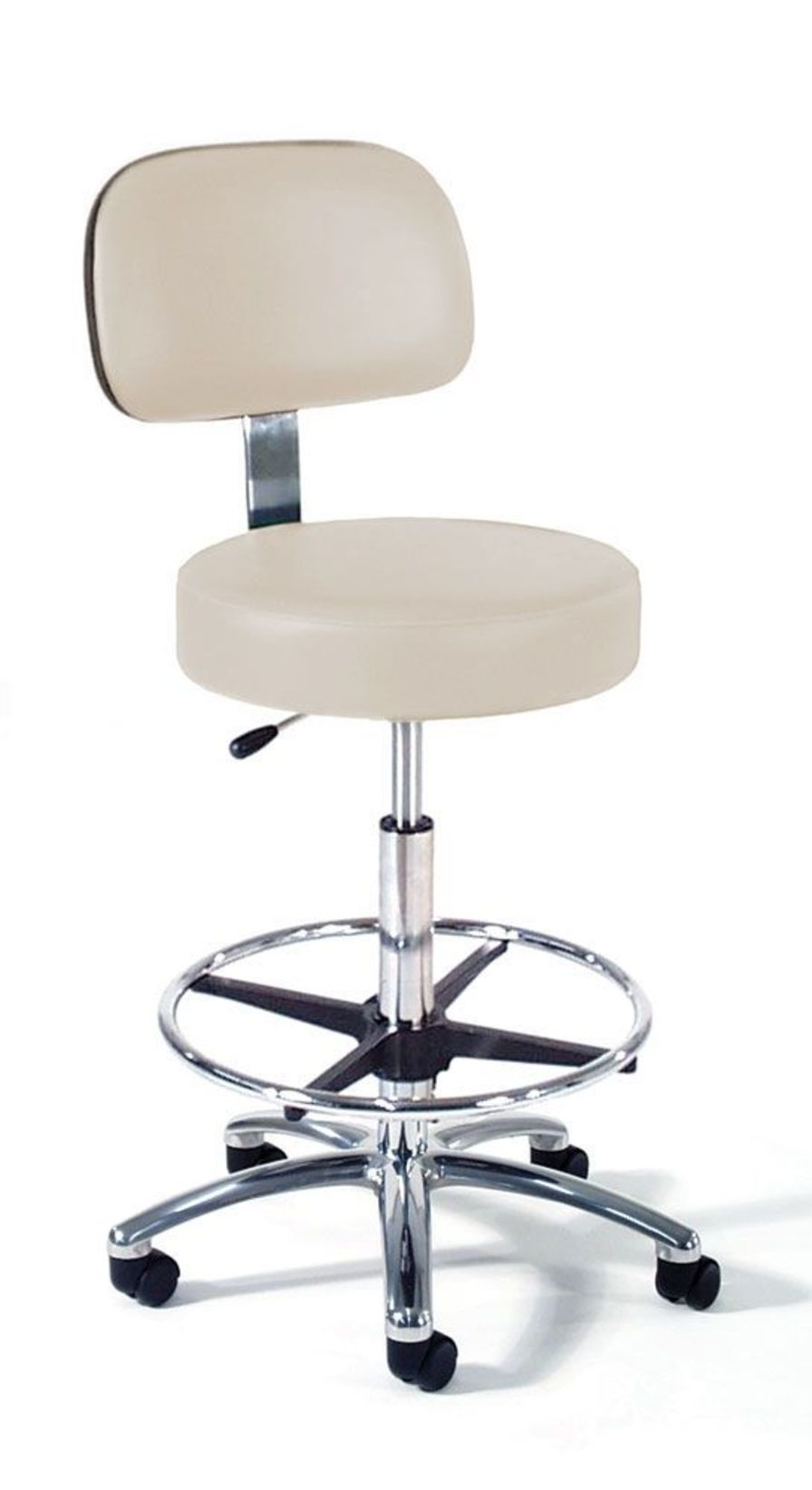 Medical stool / on casters / height-adjustable / with backrest 863 Intensa